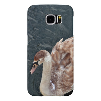 Water fowl on black water samsung galaxy s6 case