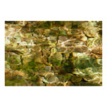 Water from Hot Springs Abstract Nature Photo Poster