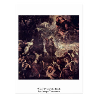 Water From The Rock By Jacopo Tintoretto Postcard
