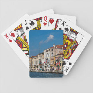 Water Front Along The Grand Canal Of Venice Playing Cards