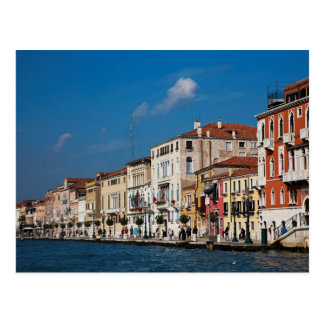 Water Front Along The Grand Canal Of Venice Postcard