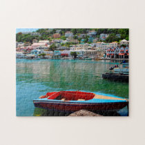 Water Front Grenada Caribbean. Jigsaw Puzzle