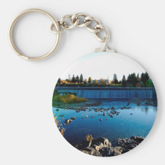 Water Front View City Barrier Key Chain