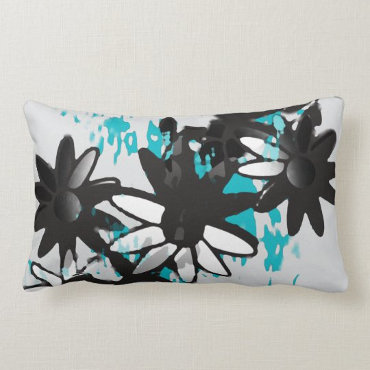 Water Garden Abstract Floral Lumbar Pillow