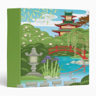 water garden and pagoda notebook binder