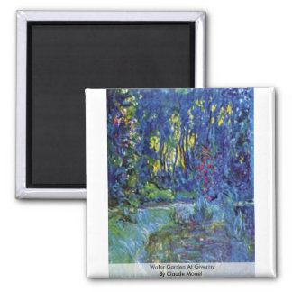 Water Garden At Giverny By Claude Monet 2 Inch Square Magnet