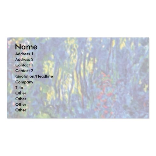 Water Garden At Giverny By Claude Monet Double-Sided Standard Business Cards (Pack Of 100)