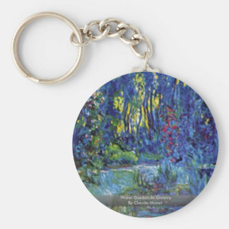 Water Garden At Giverny By Claude Monet Keychains