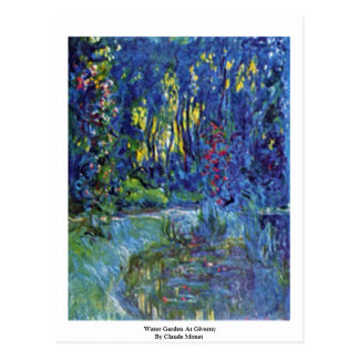 Water Garden At Giverny By Claude Monet Postcard