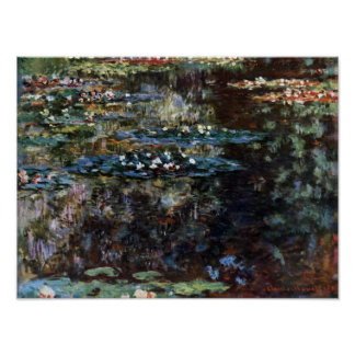 Water Garden at Giverny, France by Claude Monet Poster