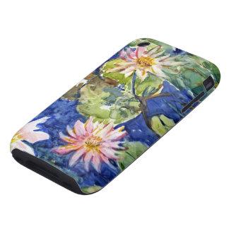 Water Garden in Watercolor Tough iPhone 3 Cover