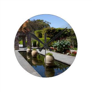water garden round clock