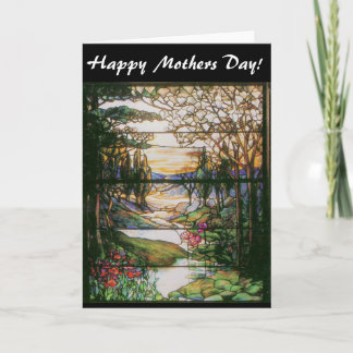 Water Garden Stained Glass Moms Day Card
