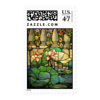 Water Garden Stained Glass Postage