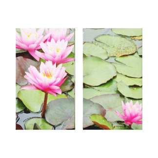 Water Garden Wrapped Canvas