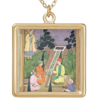 Water gardens, from the Clive Album (gouache on pa Gold Plated Necklace