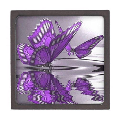 water.gif púrpura caja de recuerdo de calidad