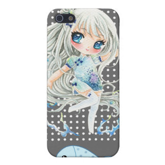 Water girl and kawaii fish iPhone SE/5/5s cover