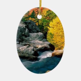 Water Glen Ellis Falls White Mountain Ceramic Ornament