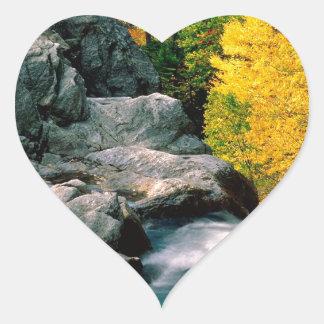 Water Glen Ellis Falls White Mountain Heart Sticker
