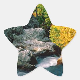 Water Glen Ellis Falls White Mountain Star Sticker