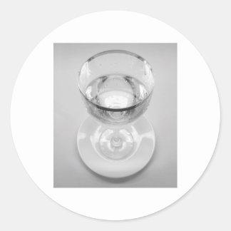Water Goblet Classic Round Sticker