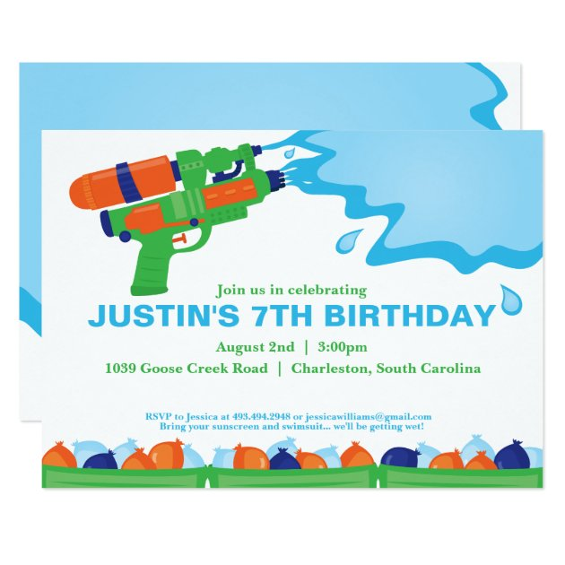 water party invitations & announcements | zazzle,