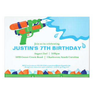 water party invitations  announcements  zazzle, party invitations