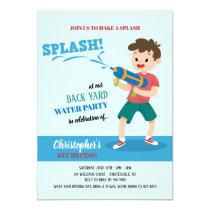 Water-gun Party Invitation