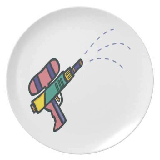 Water Gun Party Plate