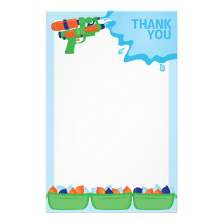 Water Gun Party Stationery