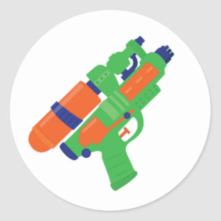Water Gun Party Sticker (Set 1)