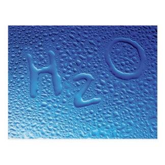 Water, H2O, Blue Postcard