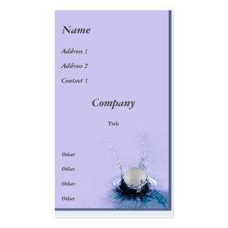 Water Hazard Business Cards