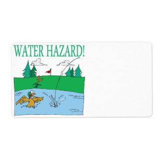 Water Hazard Label