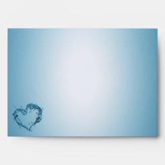 Water Heart - Envelope A7