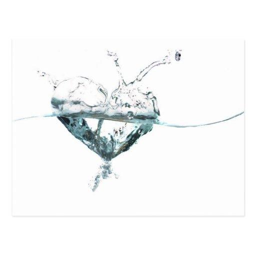 water heart postcard