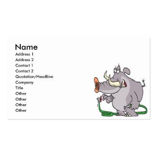 water hose elephant cartoon business card