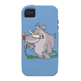 water hose elephant cartoon Case-Mate iPhone 4 cover