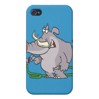 water hose elephant cartoon cover for iPhone 4
