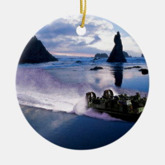 Water Hover Craft Speeds Ceramic Ornament