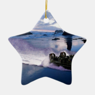 Water Hover Craft Speeds Ceramic Ornament