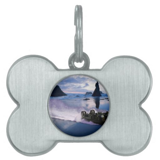Water Hover Craft Speeds Pet Name Tags