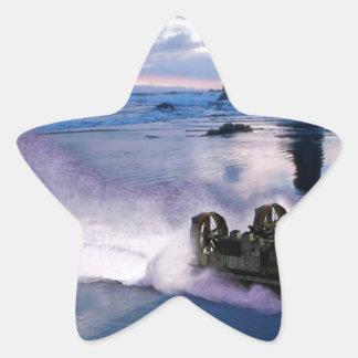 Water Hover Craft Speeds Star Sticker