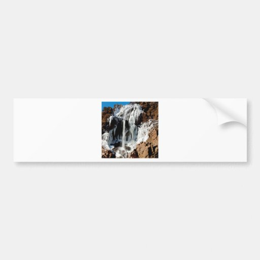 Water Ice Formation On Rocks Bumper Stickers