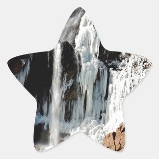 Water Ice Formation On Rocks Star Sticker