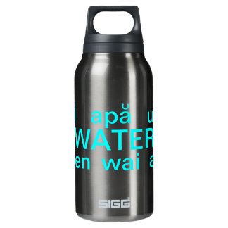 Water in Many Lanuguages Insulated Water Bottle