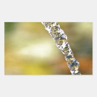 Water In Motion Rectangular Sticker