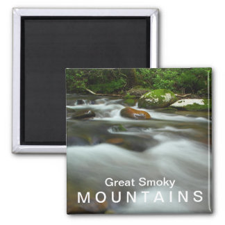 Water in the Great Smoky Mountains National Park 2 Inch Square Magnet