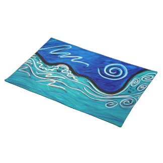 """""""Water in the river...met the sea..."""" Placemat"""